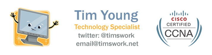 Tim's site banner
